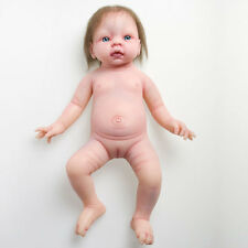 IVITA 19-inch Hair Rooted Silicone Reborn Blue Eyes Baby Doll Soft Soild Reborn