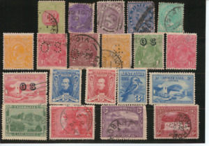 AUSTRALIA - Collection of USED PRE-DECIMAL Stamps