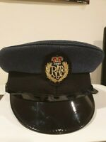 RAF Royal Air Force Peaked Cap With Badge British Army Dress Military Uniform UK