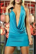 Sexy Slim Blue Lace Backless Bandage Mini Dress Cocktail Sundress Size AJ9