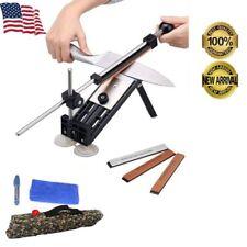 New listing Professional Knife Sharpener Kitchen Sharpening System Fix-Angle 4 Stones Kit Us