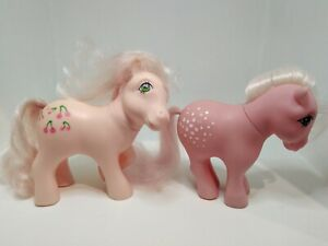 My Little Pony vintage G1 Cherries Jubilee and Cotton Candy white blonde hair