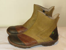 EL NATURALISTA N421 GINKGO SPANISH DESIGNER LEATHER ANKLE BOOTS UK 4 37 RRP £130