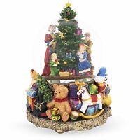 Children Decorating Christmas Tree Large Musical Snow Globe