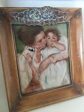 """Mother & Child by Mary Cassatt 8x10 Framed Art Print in 2"""" Wood Frame"""