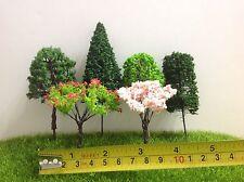 Dollhouse Miniature Garden Yard Street Flower Trees 8pcs Random Picked