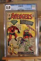 Marvel Avengers #2 CGC 5.0 Unpressed, key book 2nd appearance of the Team