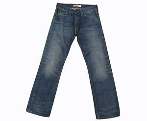 levis 506 mens denim jeans pants trousers standard button up blue size 32w 32l