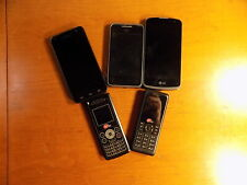 Lot of 5 used cell phones all excellent working condition Lg Kyocera Starcom