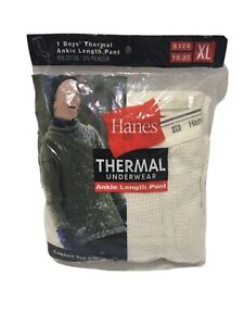 HANES Boys THERMAL ANKLE LENGTH PANT NEW FROM 2000 XL Vintage Sealed 20 Years
