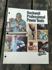 Vintage Rockwell professional Power Tools Catalog 1980 Usa