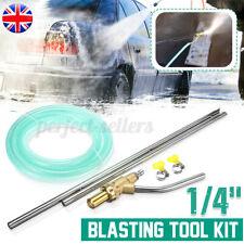 More details for car sand blaster hose high pressure sand blasting gun tube washer wet tool kit