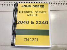 2240 John Deere Technical Service Shop Repair Manual