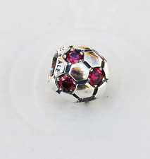 Genuine Pandora Red Soccer Ball Charm - 790444CZR - retired