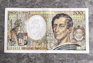 billet 200 francs montesquieu 1992.                       Ttb +