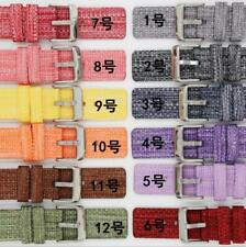 18/20/22mmNylon Fabric Canvas Wrist Smart Watch Band Strap Buckle Quick Release