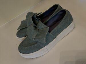 Guess Denim Bow Tie Women's Size 9 Shoes