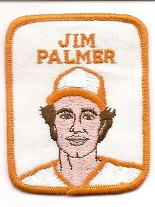 JIM PALMER 1978-1979 Vintage Penn Emblem Baseball Player Patch-Baltimore Orioles