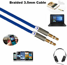 1M - 3.5mm Jack Profesional HQ Cable Aux-Plomo de audio para auriculares/MP3 Azul Marino Uk