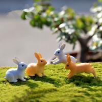 Rabbits Mini 3pcs Miniatures Fairy Garden Ornament Decoration DIY Dollhouse Lawn