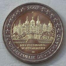 2 Euro Deutschland A 2007 Mecklenburg-Vorpommern Schweriner Schloss unz