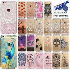 For Apple iPhone 6S 6 Plus 7 8 Case Covers 3D Patterns Painted TPU/Silicone/Gel