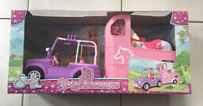 Simba Toys Steffi Love Horse, Jeep & Trailer Large Set . Age 3+. NEW.