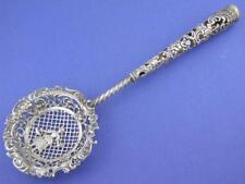 Elaborate 800 Silver STORCK & SINSHEIMER Tea Strainer floral angel Hanau Germany