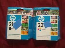 Genuine HP INKJET PRINT CARTRIDGES HP 21 BLACK and HP 22 TRI COLOR INK  EXPIRED