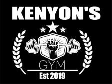 Custom Personalised Gym Name, Year Metal Aluminium Plaque Sign For Door Fitness