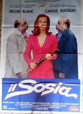 manifesto movie poster 4F IL SOSIA MICHEL BLANC CAROLE BOUQET GROSSE FATIGUE