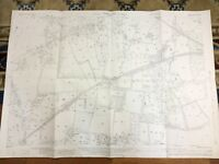 Antique Map Farnham Surrey Hampshire Kingston Poyle House Park 1934