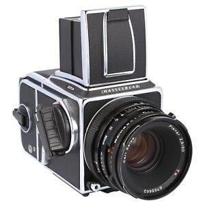 Hasselblad 501CM Kit Planar CF 80mm f2.8 Waist Level Finder A12 Back Acute Matte