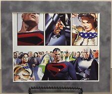 SUPERMAN / WONDER WOMAN By ALEX ROSS Pro Matted Print Kingdom Come DC Comics