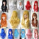 Women's Long Curly Wavy Fancy Dress Wigs Cosplay Costume Ladies Full Wig Party