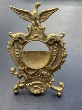 Vintage Virginia Metalcrafters #24-35 Brass Eagle Pocket Watch Stand Holder