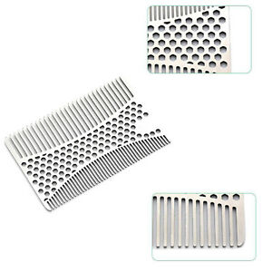 Beard Mustache Hair Care Comb Shaping Shaving Wallet Size Stainless Steel New