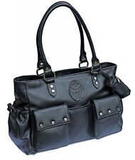 Genuine Leather Baby Changing Diaper Bag with Dustbag and Nappy Bag Holder BNWT