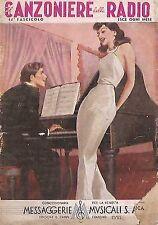 CANZONIERE RADIO 1941 ILLUSTRATORE BOCCASILE PIANOFORTE
