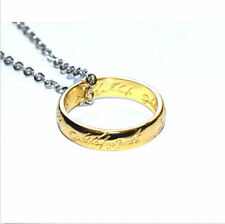 Hot The Lord of Rings Stainless Steel Band Necklace Pendant Chain Couple Jewelry