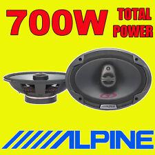 """ALPINE 6""""x9"""" 6x9 700W 3-way SPG car rear deck oval shelf speakers brand new pair"""