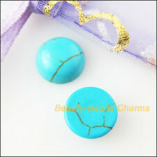 25Pcs Blue Turquoise Round Loose Cabochon Gemstone FlatBack 6mm