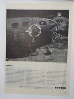 Original Print Ad 1943 BOEING Vintage Artwork WWII The SWOOSE