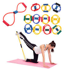 Resistance Band Yoga Pilates Abs Exercise Stretch Fitness Tube Workout Bands XP