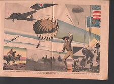 Airdrop USA US CAVALRY US ARMY ARMÉE AMÉRICAINE Largage aérien ILLUSTRATION 1938