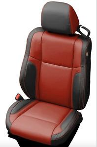 2015 -> 2021 Dodge Challenger Katzkin Custom Black Cardinal Leather Seat Covers