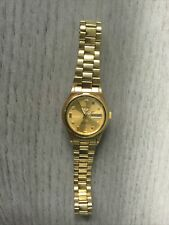VINTAGE SEIKO 5 AUTO WOMEN'S DAY/DATE  Gold Plated