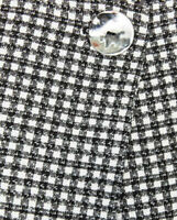 BNWOT ~ZARA~ Blogger Black/White Gingham Check Jacket with Frill Bell Sleeves M