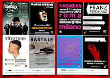 Kasabian Franz Ferdinand Interpol Bastille Black Keys original double side flyer