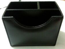 Portapenne in pelle nero accessori scrivania ufficio contenitore penne Tavecchi